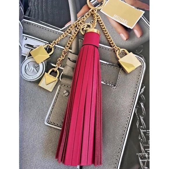 ffc79d9aa007 MICHAEL Michael Kors Bags | 0053 Red Mercer Tassel And Lock Leather ...